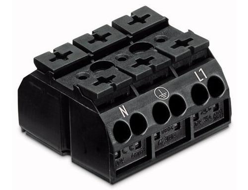 conector wago de passagem de 3 polos mod. 862-1552 c/1 unid.