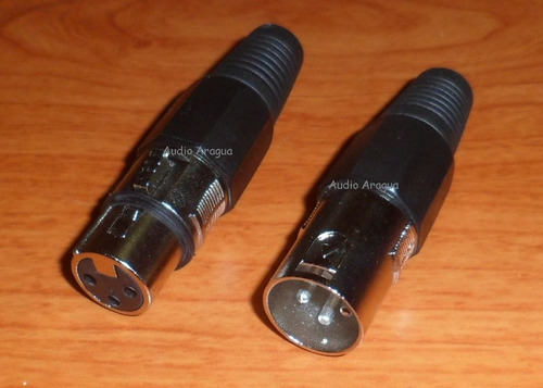 conector xlr (canon) hembra & macho(el precio es por el par)