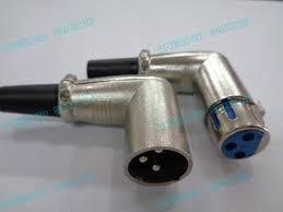 conector xlr canon macho hembra 3 pin doblado equiprogram