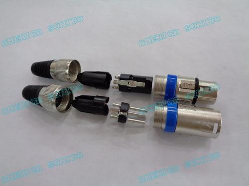 conector xlr hembra 3 pin micrófono equiprogram
