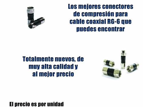 conectores de compresión para cable coaxial rg6 directv