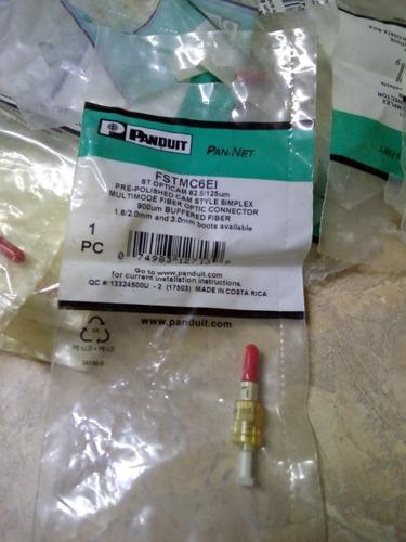 conectores de fibra óptica st prepulidos marca panduit