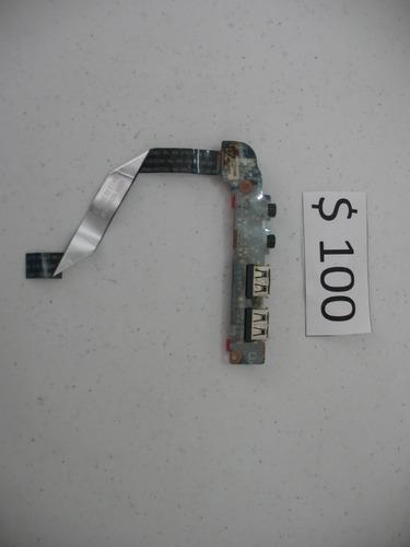 conectores de usb y audio toshiba t215