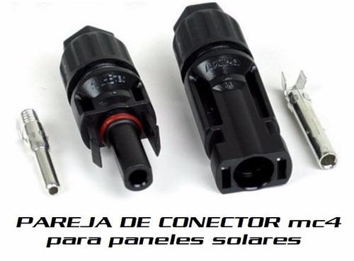 conectores mc4  paneles solares contiene 1 par energia solar