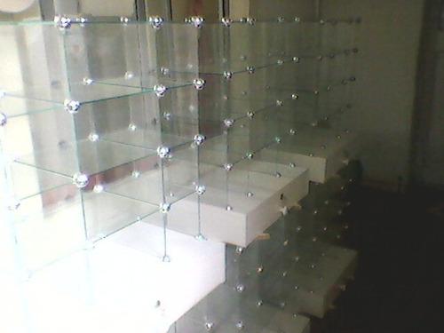 conectores para vitrinas dulceras, confiteras,  vidrios.