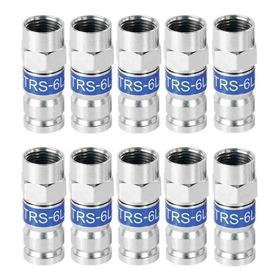 Conectores Rg6 De Compresión Para Tv Cable Coaxial Directv