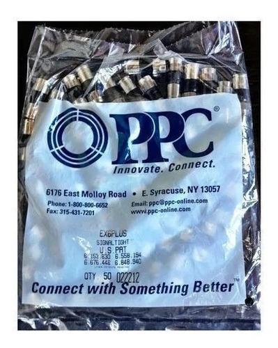 conectores rg6 de compresion ppc preciox10 unid super oferta