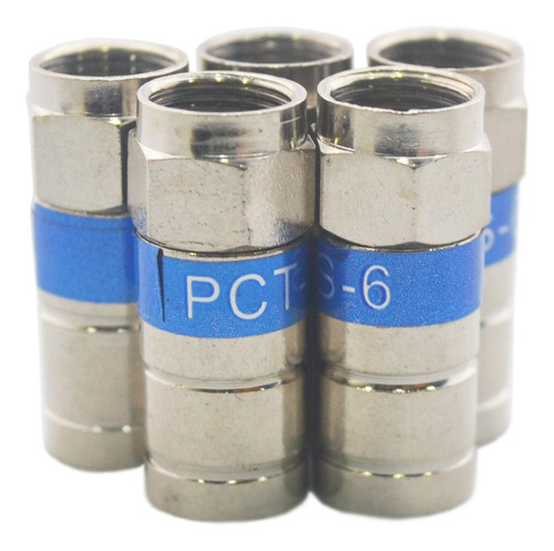 conectores rg6 de rosca azul 4 unidades tv cable coaxial