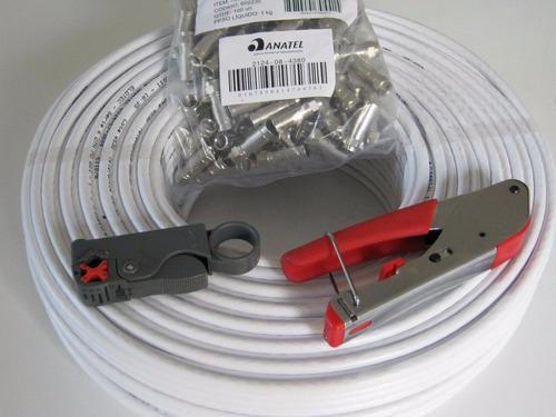 conectores rg6 para tv cable coaxial por mayor y menor
