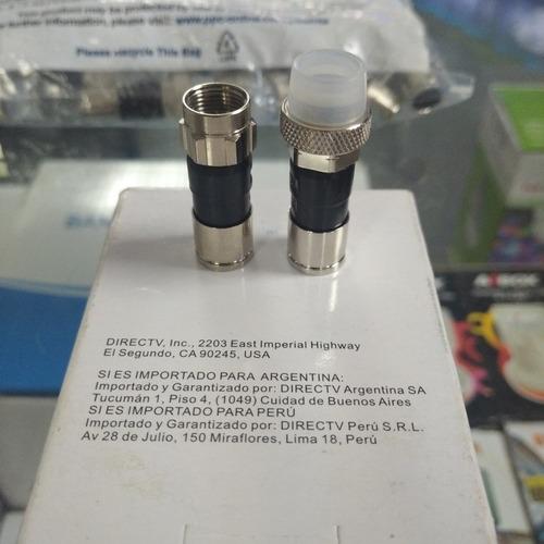 conectores rg6 ppc, compresion, cable coaxial