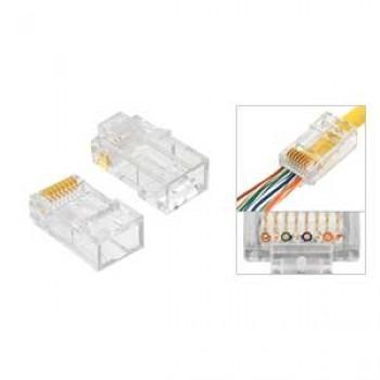 conectores rj-45 p/cable utp cat6 agi-1418 100 piezas