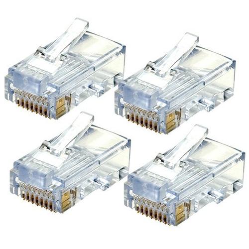 conectores rj45 cat6 bolsa 100 und + mas regalo 100 botas