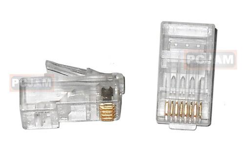 conectores rj45 para categoría 6, bolsa de 100 unidades