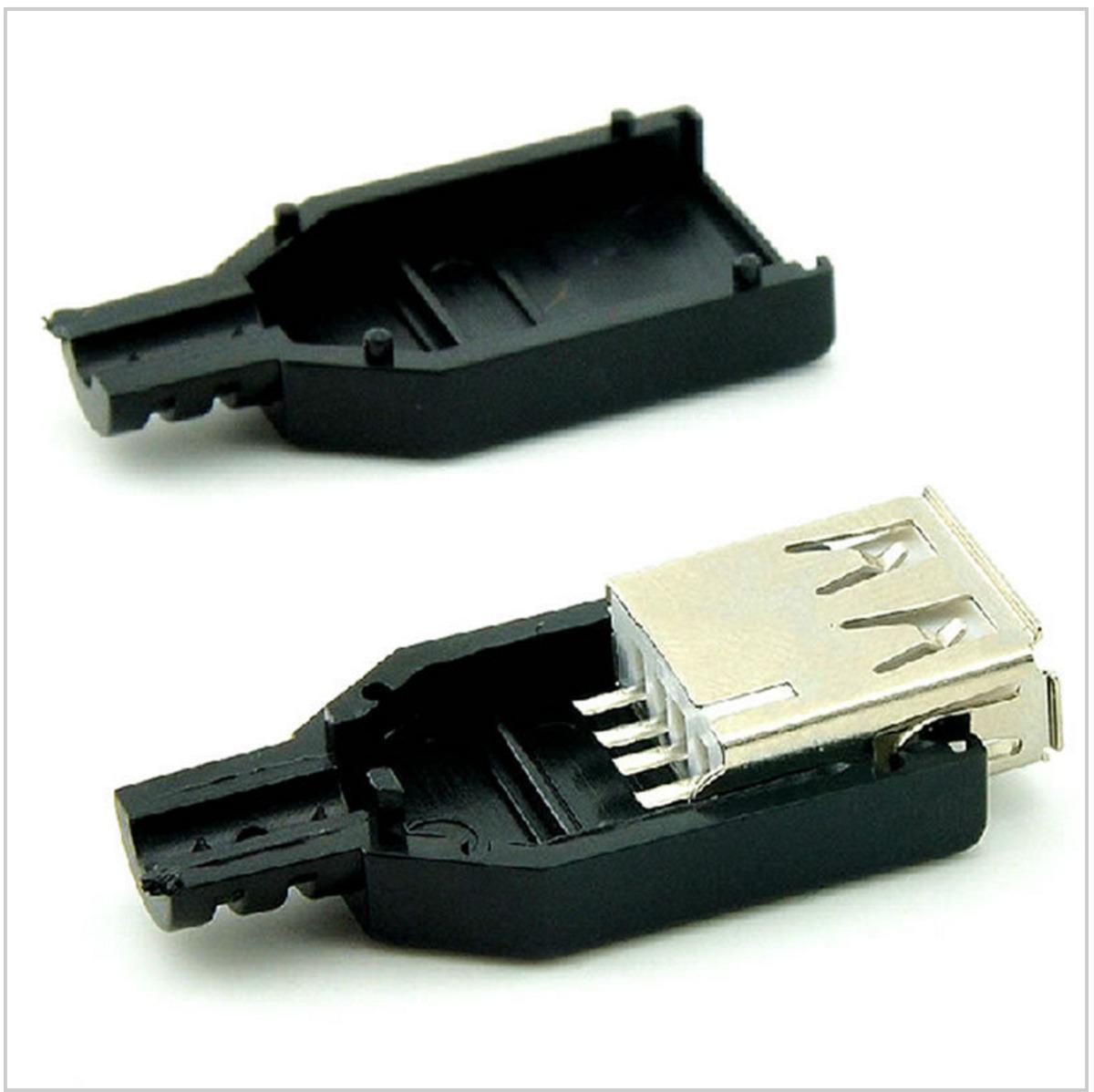 conectores usb 2 0 kit para montar 5 femea e 5 macho r 29 00 em