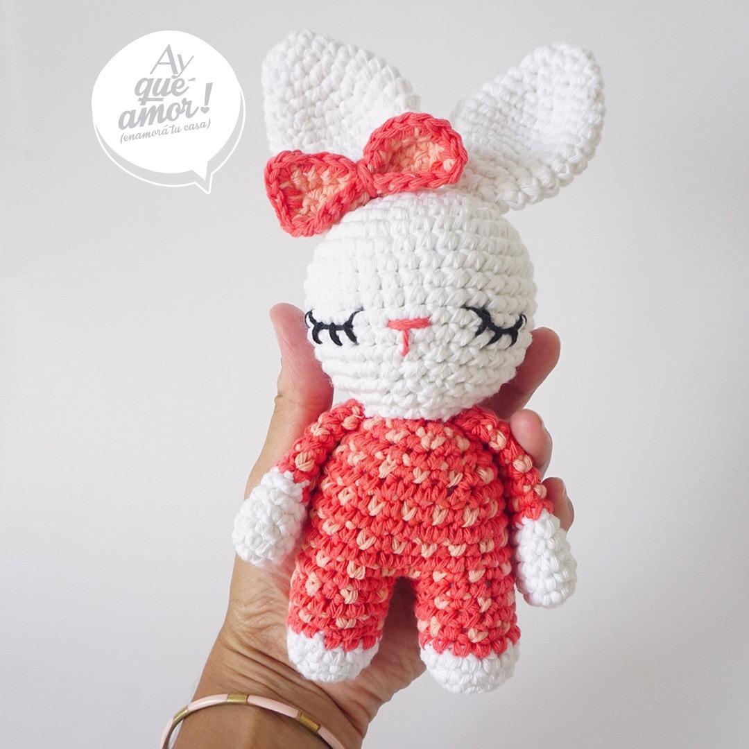 Coneja Tejida Al Crochet De Asqueamor - $ 390,00 en Mercado Libre