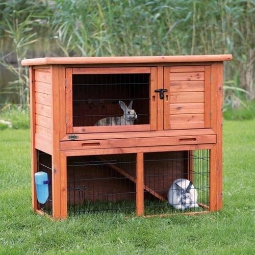 conejera jaula para conejo hutch trixie pet chica