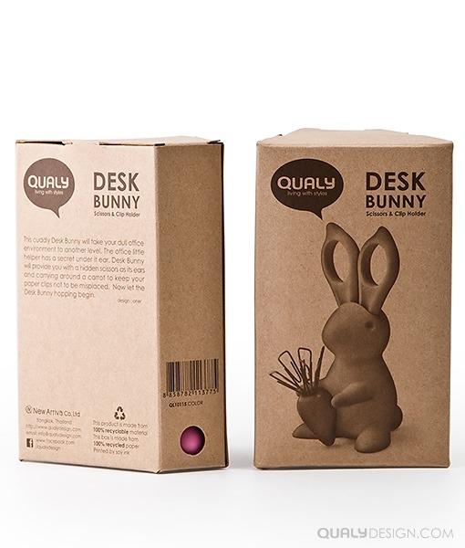 Conejo con tijeras y clips e iman de zanahoria para for Muebles de oficina iman