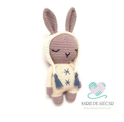 conejo de apego crochet - nariz de azúcar amigurumis