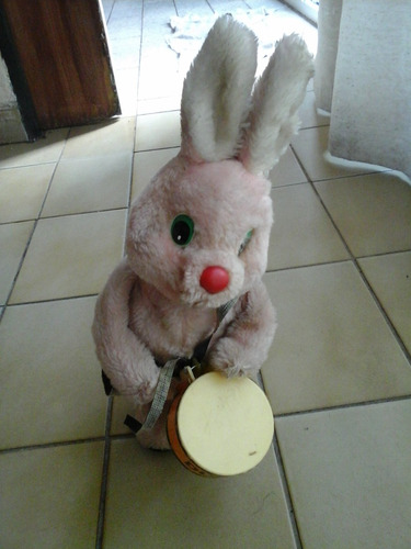 conejo duracell con tamborcito ideal coleccion antiguedad