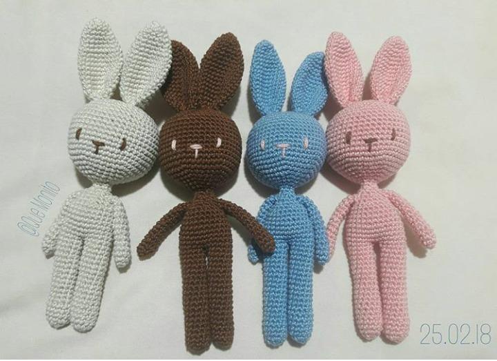 Amigurumis Conejos Paso A Paso : Conejo amigurumi cuerpo de andy crochet youtube