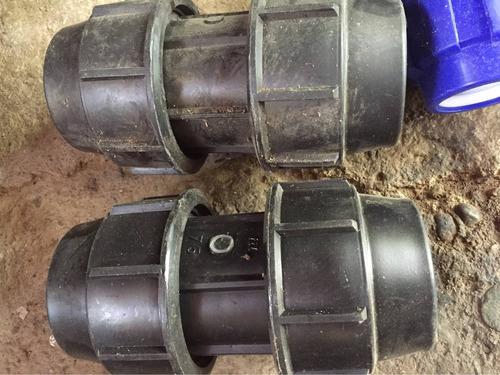 conexiones manguera riego agrícola pead adaptador tee union