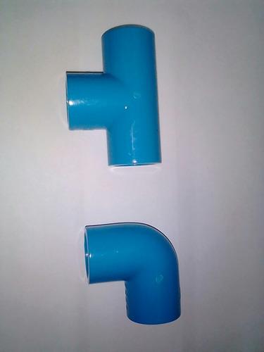 conexiones tuberia pvc 3/4 para agua fria.