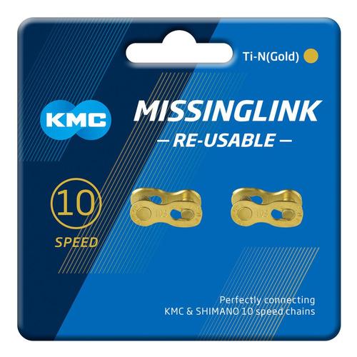 conexión/eslabón cadena kmc 10 velocidades ti-gold 2 unid