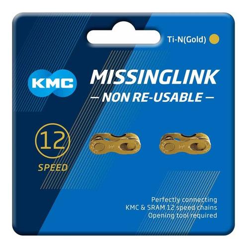conexión/eslabón cadena kmc 12 velocidades ti-gold 2 unid