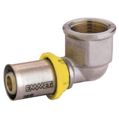 conexão de prensar para tubo gás