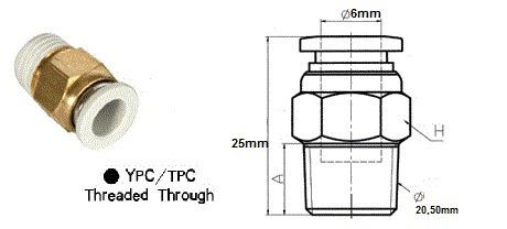conexão engate rápido para mangueira de 6mm