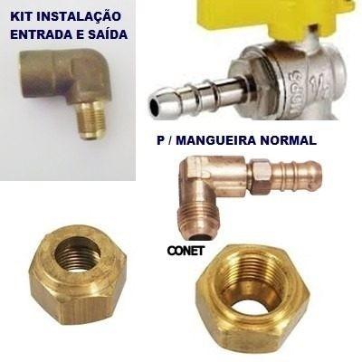 Conex o para tubo de cobre 3 8 kit para canaliza o g s - Tubo de cobre para gas ...