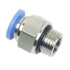 conexão pneumática reta tubo ø08 rosca 1/8 bsp o'ring