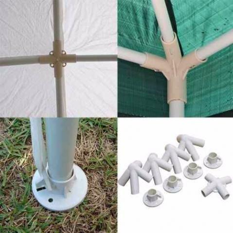 conexões para tenda gazebo 3m x 3m nautika 9 peças