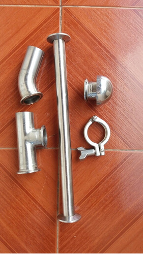 conexões tri clamp  2 polegadas  5 peças (lote581)