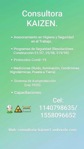 confección de protocolos, servico de higiene y seguridad.