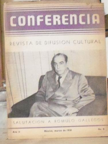conferencia salutacion a romulo gallegos - revista de difusi