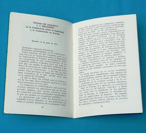 conferencia seguridad y cooperación en europa brezhnev 1975