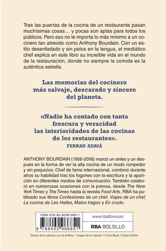 confesiones de un chef / anthony bourdain