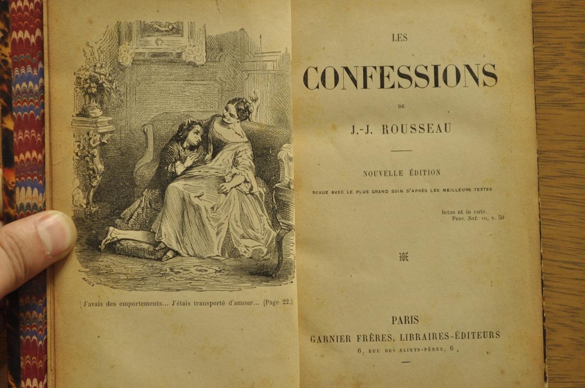 Confessions Jean Jacques Rousseau Frances Antiguo Ed Garnier 27000