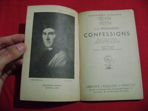 confessions, jean-jacques rousseau larousse