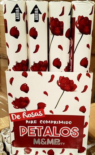 confeti lanza papeles cotillón pétalos ×12 unidades