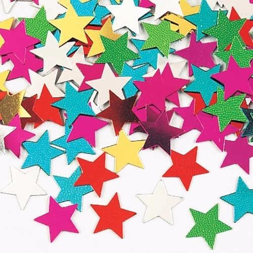 Confetti Confeti Papel Picado Formas Corazones Estrellas 4500