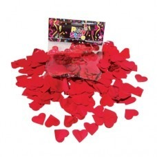Confetti Para Globo Corazones Metalizados Color Rojo X 50grs 55
