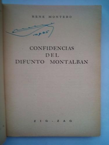 confidencias del difunto montalbán / rené montero