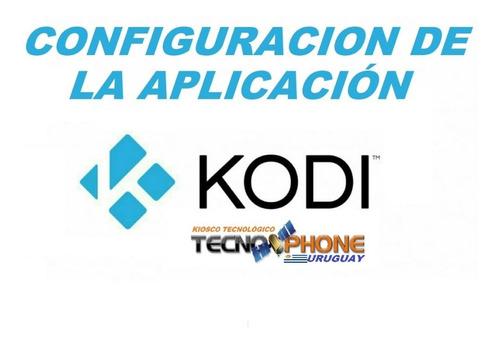 configuración de kodi para tu box