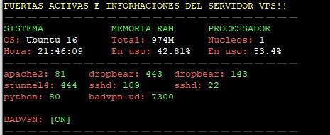 configuracion de servidor vitual privado