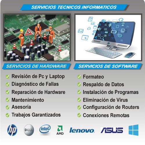 configuración de servidores, soporte técnico pc(formateo pc)