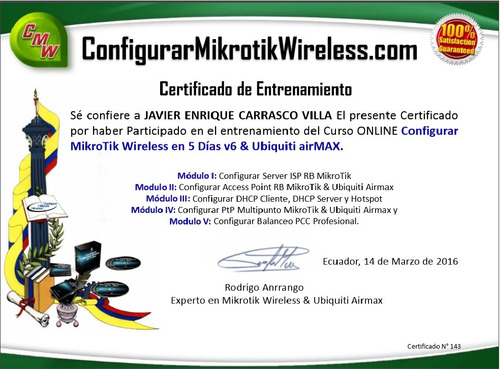configuracion mikrotik y ubiquiti. enlaces, redes, torres