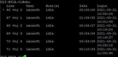 configuração de olt e router board.