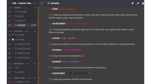 configuração servidor de discord [ pro ]
